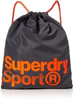 Superdry Drawstring Sports, Men's Shoulder Bag, Grigio (Grey/fluro Orange), 37.0x1.0x47.0 cm (W x H L)