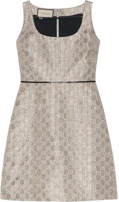 Gucci Heritage GG lame mini dress
