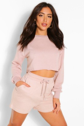 boohoo Mix and Match Soft Cropped Loop Back Sweat
