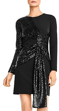 Aidan Mattox Adian by Sequin-Draped Cocktail Dress