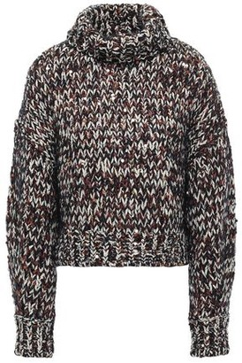 Brunello Cucinelli Sequin-embellished Marled Knitted Turtleneck Sweater