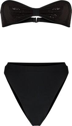 Adriana Degreas Sequinned Bikini Set