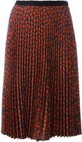 Paul Smith hearts print pleated skirt