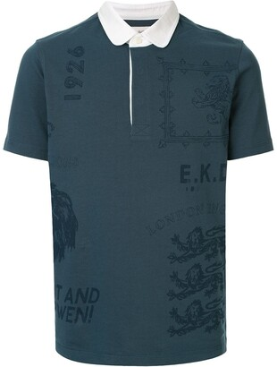 Kent & Curwen Printed Polo Shirt