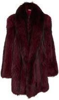 Michael Kors Silver Fox Fur Cape Coat