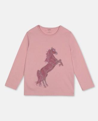 Stella Mccartney Kids Stella McCartney horse patch cotton t-shirt