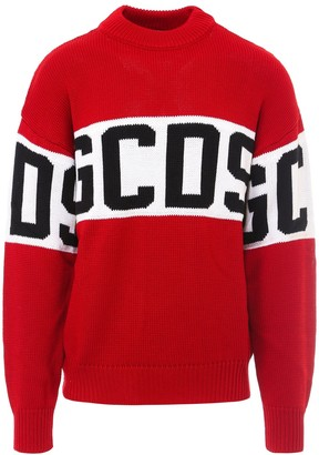 GCDS Logo Band Knit Sweater