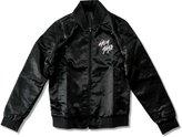 Juniors Lady Gaga Skeleton Bubble Satin Jacket (Medium)