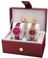 Burgi Women's BUR152RG Rose Gold Quartz Watch Set Including BUR151BUR And BUR126RG