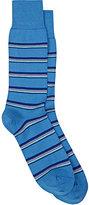 Paul Smith Men's Mixed-Stripe Mid-Calf Socks-BLUE