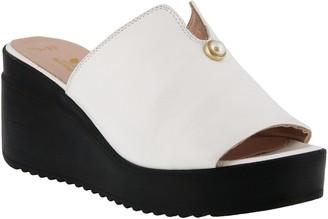 Spring Step Leather Slide Sandals - Noresa
