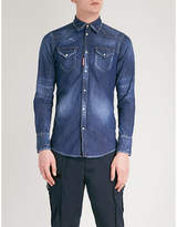Dsquared2 Distressed tailored-fit denim shirt