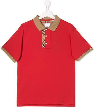 Burberry TEEN Archie checked polo shirt