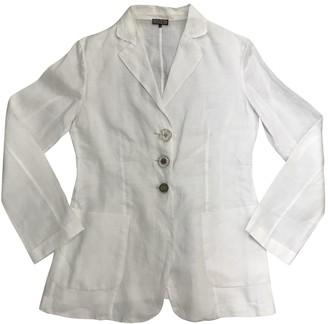 Maliparmi White Linen Jacket for Women