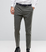 Noak Slim Suit Trousers In Fleck Wool