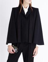 Alexander McQueen Neck-tie wool-blend cape