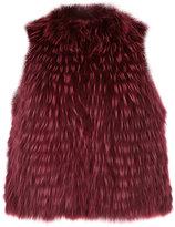 Yves Salomon cropped sleeveless jacket