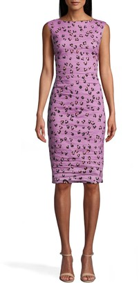Nicole Miller Lilac Leopard Midi Dress