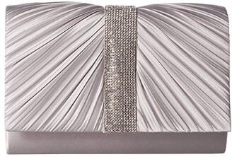 Jessica McClintock Alexis Pleated Clutch (Navy) Handbags