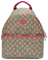 Gucci Girl's Canvas Backpack - Brown