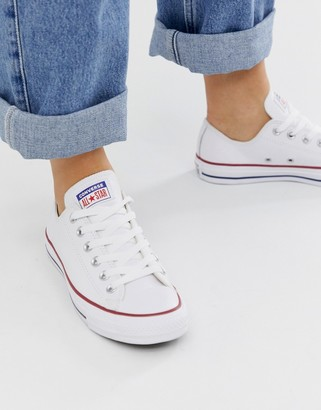 Converse chuck taylor ox leather white sneakers