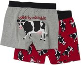 Hatley 2 Pack Boxers (Toddler/Kid) - Cows On Red-2
