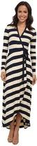 Nicole Miller Bold Stripe Wrap Dress