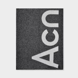 Acne Studios Scarf Toronty Logo In Black Wool