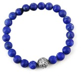 John Hardy 925 Sterling Silver Bedeg Lapis Lazuli Beads Bracelet
