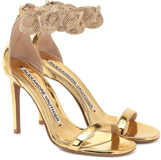 Alexandre Vauthier Elsa embellished leather sandals