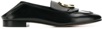 Chloé C-plaque loafers