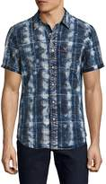 True Religion Men's Plaid Patch Pocket Sportshirt