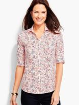 Talbots The Perfect Elbow-Sleeve Shirt-Dotted Flowers