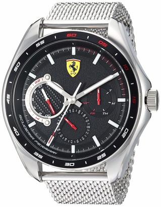 Ferrari Men's SPEEDRACER Quartz Watch with Stainless Steel Strap