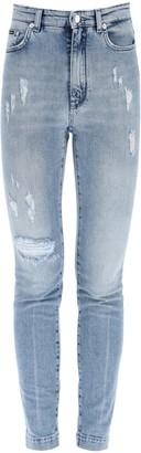 Dolce & Gabbana AUDREY FIT DENIM JEANS 44 Blue Cotton, Denim