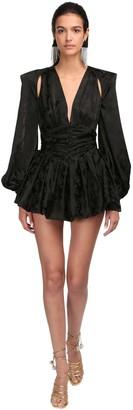 ATTICO The Viscose Jacquard Mini Dress