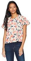 Jolt Women's Printed Top With Flutter Sleeves