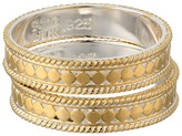 Anna Beck Set of 2 Stacking Band Rings