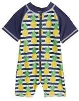 Sol Swim Preppy Pineapples One-Piece Rashguard Swimsuit
