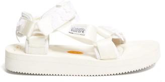 Cecilie Bahnsen X Suicoke Maria Floral Velcro-strap Sandals - White