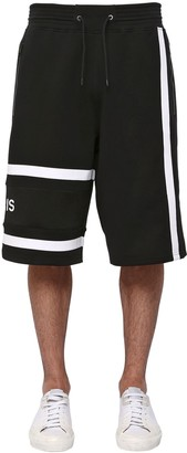 Givenchy Logo Embroidered Cotton Shorts