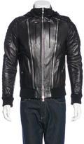 Balmain Hooded Leather Jacket w/ Tags