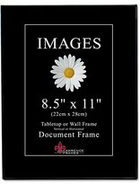 "Lawrence Frames 350081 Images Collection Picture Frame, 8.5"" x 11"", Black"