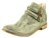 Free People Brae Burn Ankle Women Round Toe Leather Gray Ankle Boot.
