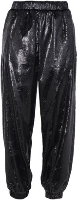 Love Moschino Metallic Velvet Track Pants