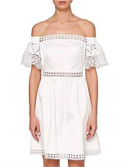 Ted Baker Loulah A Line Geo White Lace Dress