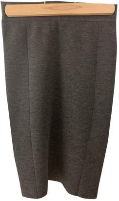 Yigal Azrouel Grey Wool Skirt for Women