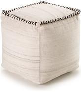 Yumanmod Stitched Wool Ottoman, White