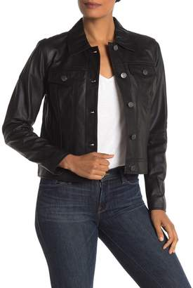 Andrew Marc Solid Colored Moto Jacket