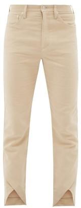 Séfr Mala Cross-over Hem Cotton Trousers - Mens - Beige